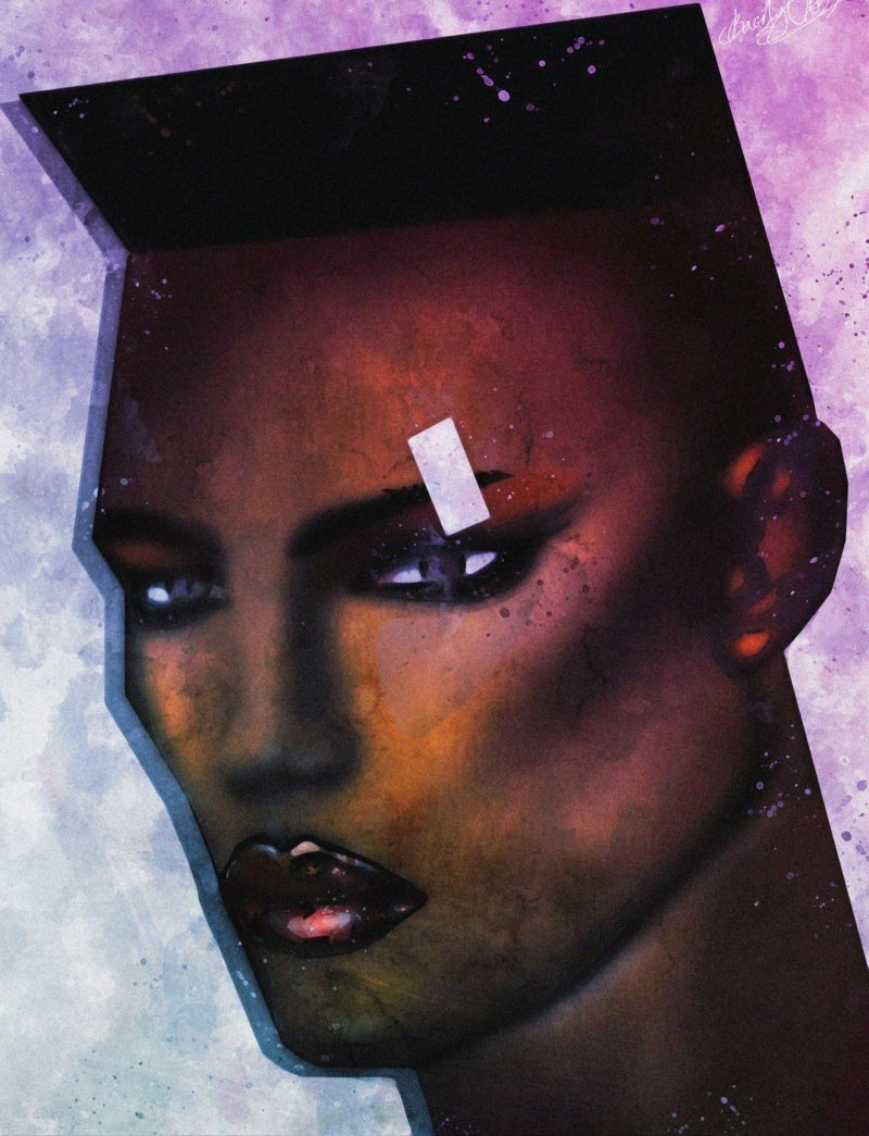 Grace Jones-Singer, songwriter, record producer, and actress.